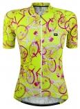 Camisa de Ciclismo Feminina Marcio May Funny Neon Bike